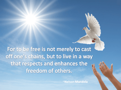 Recovery Quote about Freedom - Nelson Mandela