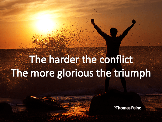 Quote for addiction and recovery about Triumph by Paine