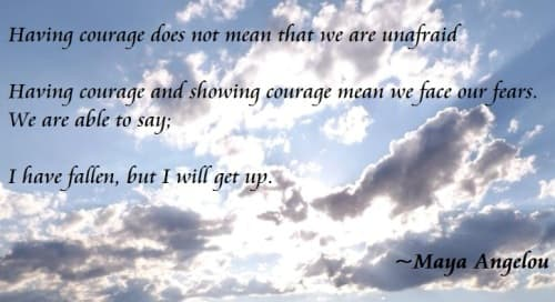 Recovery quote about courage
