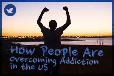 9.1 percent of Americans report they have suffered with a drug or alcohol use problem at some point in their lives but they have now overcome the issue.