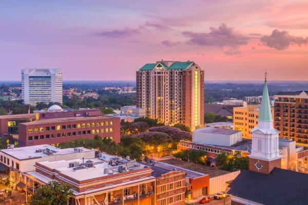 city skyline of Tallahassee, Florida